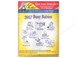 Aunt Martha&#39;s Hot Transfer Red Busy Babies