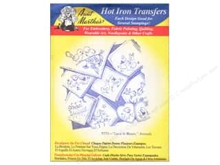 Clearance Blumenthal Favorite Findings: Aunt Martha's Hot Iron Transfer #9773 Love in Bloom, Animals