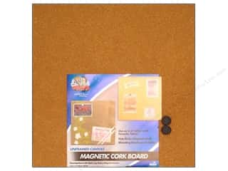 Push Pins Back to School: The Board Dudes Magnetic Cork Boards 17 x 17 in. Unframed