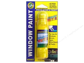 Dab'N Stic Glue Blue: Crafty Dab Window Writer Window Paint Card Yellow