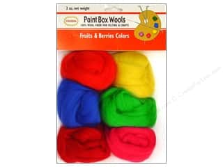 Colonial Needle Paint Box Wools Fruit Berries 6 pc