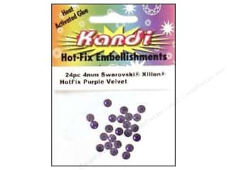 Heat Tools $24 - $28: Kandi Swarovski Crystal 4mm Purple Velvet 24 pc