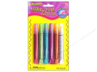 Fibre-Craft Glue Pens Bright Glitter 6 pc