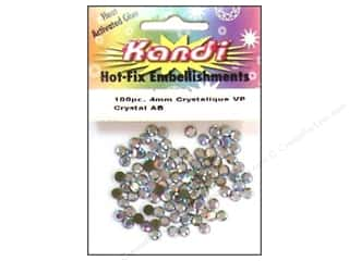 Kandi Corp Clear: Kandi Crystalique Crystal 4mm Crystal AB 100 pc