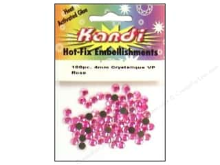 Kandi Crystalique Crystal 4mm Rose 100 pc