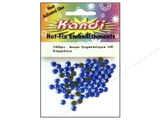 Doll Making 2014 Crafties - Best Adhesive: Kandi Crystalique Crystal 4mm Sapphire 100 pc