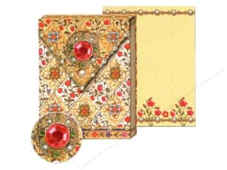 Office Punch Studio Note Pad: Punch Studio Pocket Note Pad Bejeweled Ruby