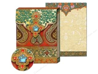 Jewel Craft Brown: Punch Studio Pocket Note Pad Bejeweled Aqua