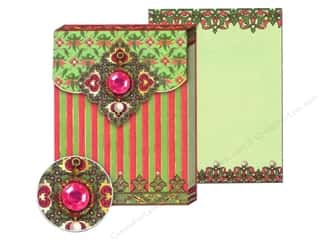 Punch Studio Pocket Note Pad Bejeweled Magenta