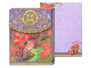 Punch Studio Pocket Note Pad Asian Floral Purple