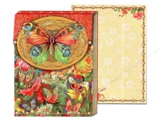 Punch Studio Gifts: Punch Studio Pocket Note Pad Cameo Butterfly