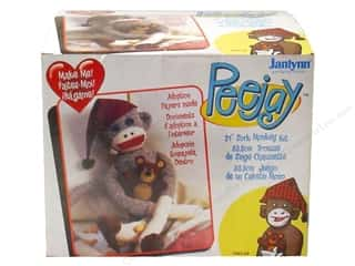 Teddy Bears $6 - $9: Janlynn Sock Monkey Kit 21 in. Peejay