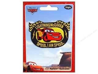 Disney: Wrights Applique Iron On Disney LightningMcQueen