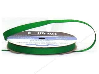 "Offray Ribbon Grosgrain 3/8"" 20 yd Emerald (20 yards)"