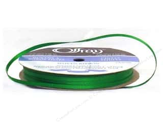 Offray Ribbon Doubleface Satin 1/8 in. 30 yd Emerald (30 yards)