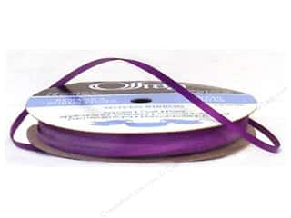 "Offray Offray Ribbon Doubleface Satin 1/8"": Offray Ribbon Doubleface Satin 1/8 in. 30 yd Purple (30 yards)"