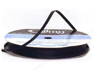 Offray: Offray Ribbon Doubleface Satin 1/8 in. 30 yd Black (30 yards)