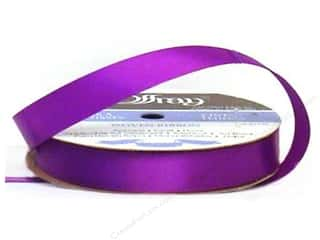 "Offray Ribbon Singleface Satin 5/8"" Purple (20 yards)"