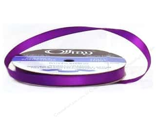 "Offray Ribbon Singleface Satin 3/8"" Purple (20 yards)"