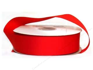 "Offray Ribbon Singleface Satin 1 1/2"" Red (10 yards)"