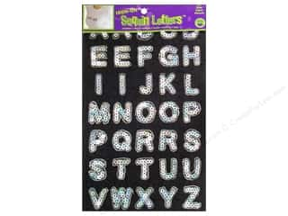 Clearance Blumenthal Favorite Findings: Sequin Iron-On Letters by Dritz Silver