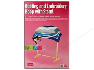 Sewing & Quilting: F.A.Edmunds Frame Quilting Hoop Oval 18x27 w/Stand