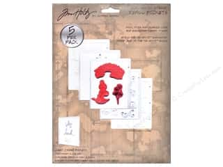 Tim Holtz Storage Unmounted Stamp Pockt Refil 5pc