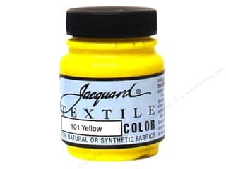 acrylic paint: Jacquard Textile Color 2.25 oz Yellow