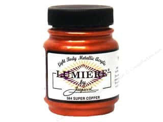 acrylic paint: Jacquard Lumiere Paint 2.25oz Met Super Copper
