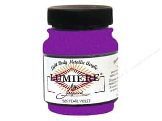 Quilt Stencil  Background: Jacquard Lumiere Paint 2.25 oz. #569 Pearl Violet