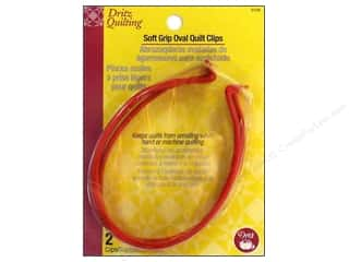 Dritz Clip Quilting Soft Grip Oval 2pc
