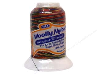Serger Thread Nylon: YLI Woolly Nylon Thread Variegated 1000M Primarys