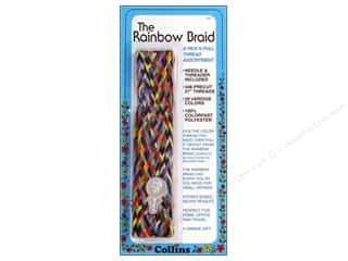 Gutermann Special Purpose Threads: Rainbow Braid Thread by Collins 1 in. Flat