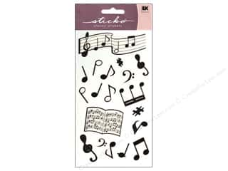Music & Instruments Crafting Kits: EK Sticko Stickers Silhouette Musical Notes
