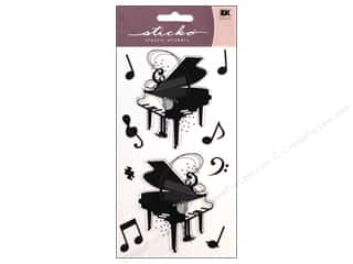 EK Sticko Stickers Silhouette Piano