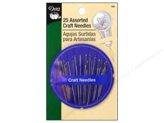 Tapestry Needles: Dritz Hand Needles Craft Compact 25pc