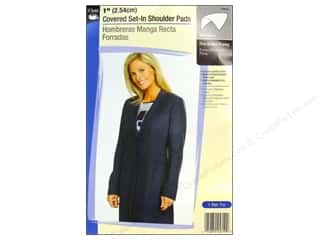 "Dritz Shoulder Pads 1"" Covered Set-In White"