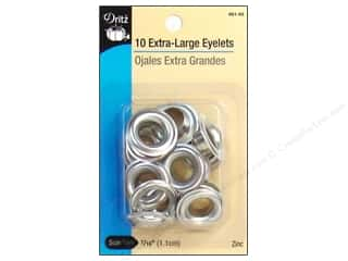 Extra Large Eyelets by Dritz 7/16 in. Zinc 10pc.