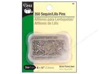 metric pins: Sequin Pins by Dritz Size 8 350pc.