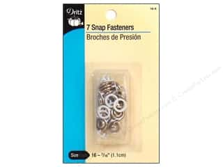 "Dritz Snap Fastener Grip Size 16 White 7/16"" 7pc"