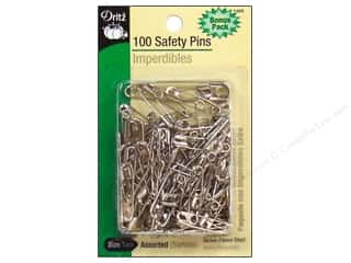 Safety Pins Bonus Pack by Dritz Assorted Nickel 100pc