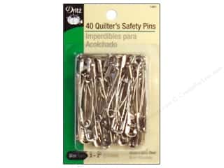 sewing pins: Quilter's Safety Pins by Dritz Nickel 40pc