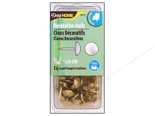 Dritz Home Dec Nails 7/16&quot; Gilt 24pc