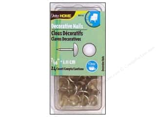 "Dritz Home Dec Nails 7/16"" Smooth Nickel 24pc"