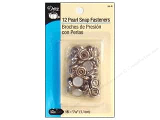 fasteners: Pearl Snaps by Dritz 7/16 in. White 12 pc.
