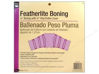 Boning / Stays: Featherlite Boning by Dritz White 1/4 in x 12 yd (12 yards)