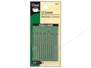 Dritz Hand Needles Crewel Size 2 12pc