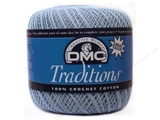 cotton yarn: DMC Traditions Crochet Cotton Size 100 #5800 Sky Blue