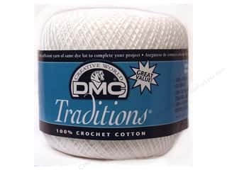 DMC Yarn: DMC Traditions Crochet Cotton Size 10 #B5200 Snow White