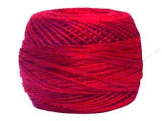 Yarn & Needlework DMC Pearl Cotton Balls Size 8: DMC Pearl Cotton Ball Size 8 #498 Dark Red (10 balls)